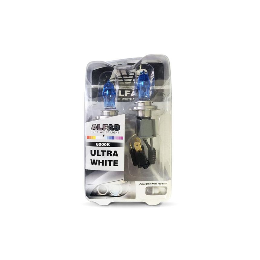 Газонаполненные лампы AVS ALFAS Pure-White 6000К H4 12V 75/85W A07244S фото