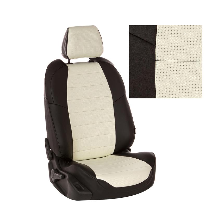 Чехлы на сиденья Nissan Note с 05-14г. G BK/WH / ni-nt-nt05-chb-e фото