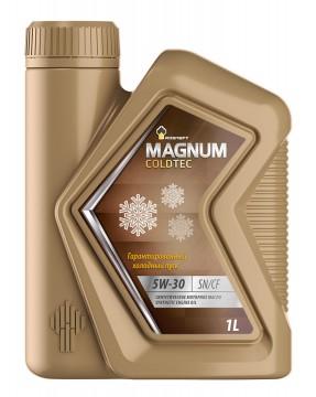 Моторное синтетическое масло РОСНЕФТЬ зимнее, эксплуатационное Rosneft Magnum Coldtec 5W-30 Канистра 1 л. фото