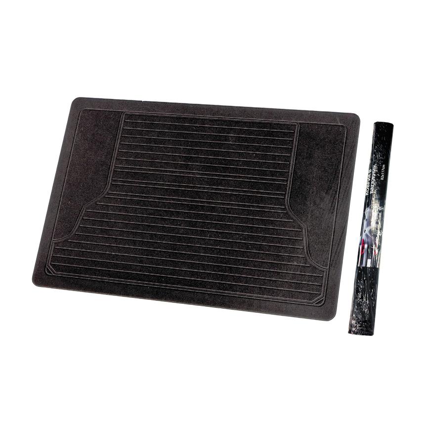 Коврик в багажник (ПВХ) 140 х 109 см MAT351 BK фото