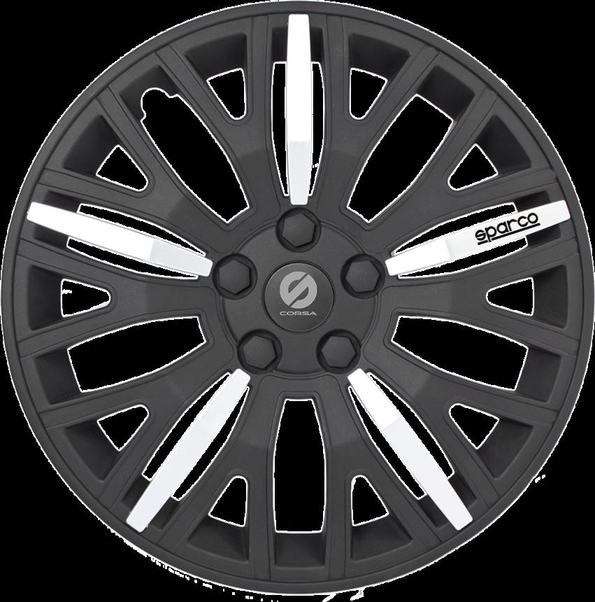 Колпаки на колёса SPARCO SPC/WC-1350L BK/CHROME (15) фото