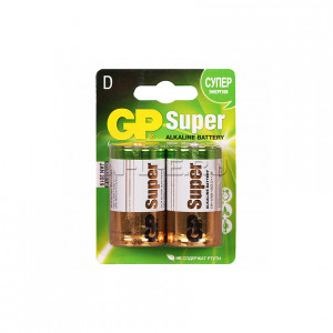 Батарейка GP D Super Alkaline блистер 2 шт GP13A2CR2