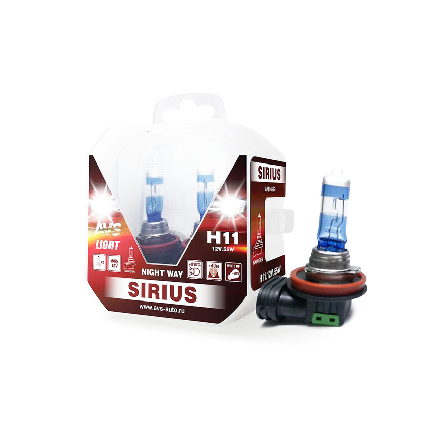 Галогенная лампа AVS SIRIUS/NIGHT WAY/ PB H11.12V.55W A78945S фото