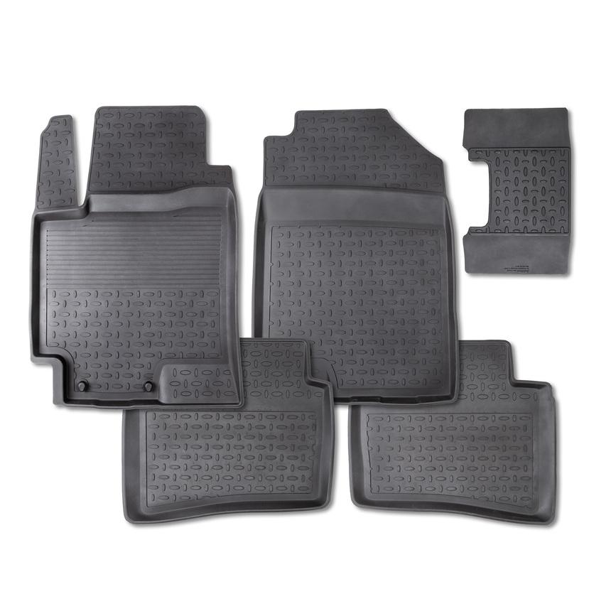 Резиновые коврики с высоким бортом для Honda Civic VIII Sedan 2006-2012 / 81892 фото