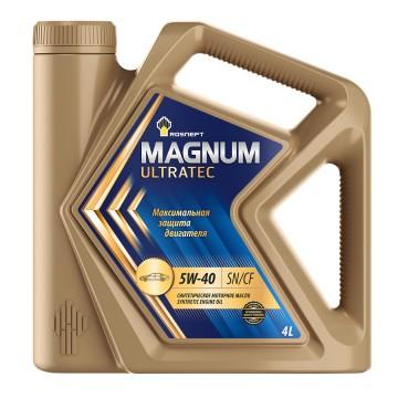 Моторное синтетическое масло РОСНЕФТЬ эксплуатационное Rosneft Magnum Ultratec 5W-40 Канистра 4 л. фото
