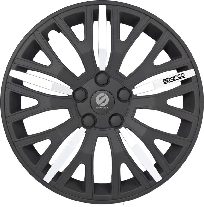 Колпаки на колёса SPARCO SPC/WC-1350L BK/SILVER (13) фото