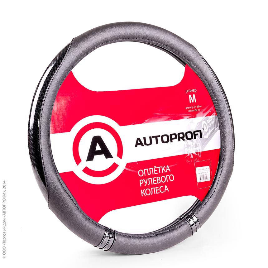 Оплётка руля AUTOPROFI AP-1412 BK/BK (M) фото