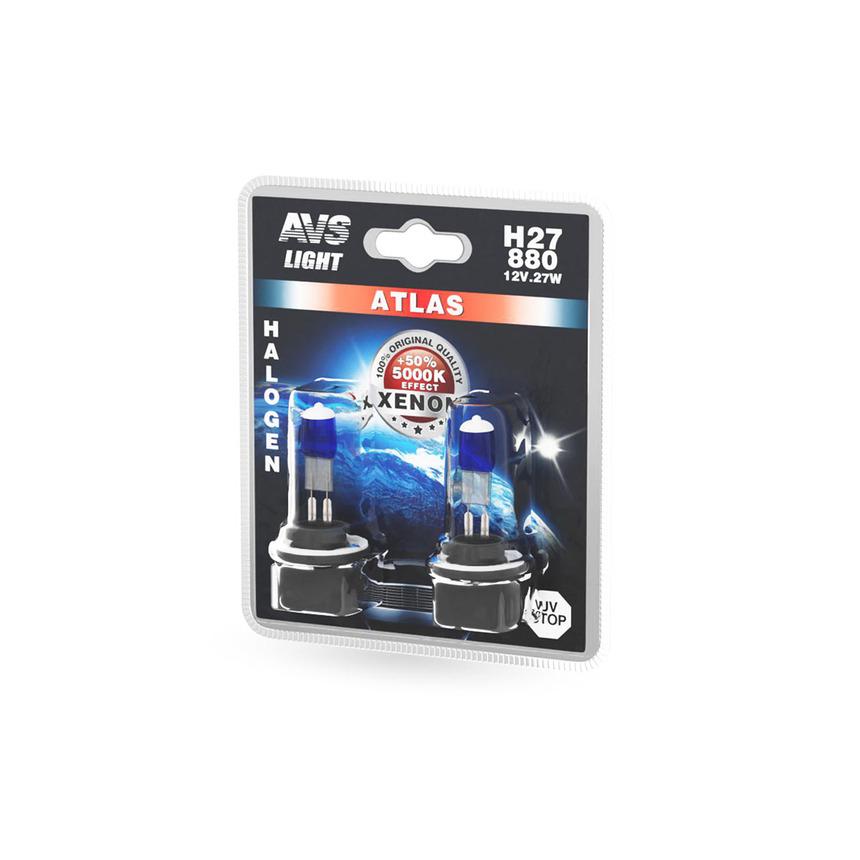 Галогенная лампа AVS ATLAS /5000К/ H27/880 12V.27W A78566S фото