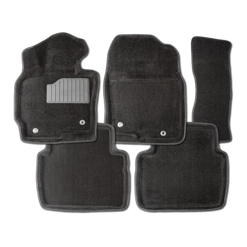 Ворсовые коврики 3D для Chevrolet Aveo II 2011- / 86275 фото