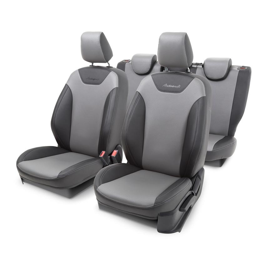 Чехлы на сиденья модельные экокожа FORD FOCUS-3 (2010+) FOC-3Ht(10+)40-60 G BK/D.GY фото