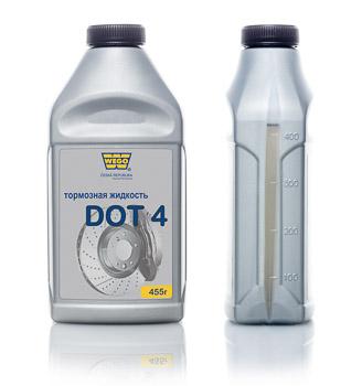 Тормозная жидкость WEGO WEGO DOT4 канистра 445 мл. фото