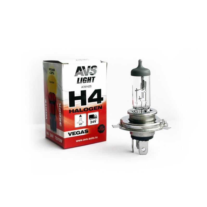 Галогенная лампа AVS Vegas H4.24V.75/70W A78142S фото