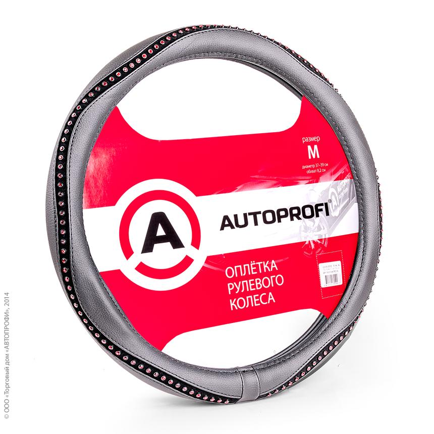 Оплётка руля AUTOPROFI AP-1414 BK/RD (M) фото