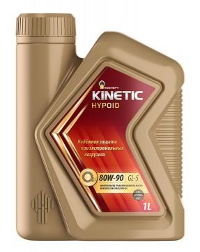 Трансмиссионное минеральное масло РОСНЕФТЬ всесезонное Rosneft Kinetic Hypoid 80W-90 Канистра 1 л. фото