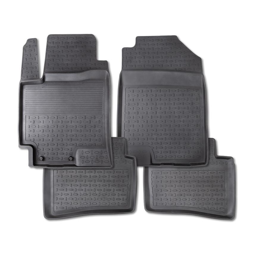 Резиновые коврики с высоким бортом для Toyota Land Cruiser 150 2009-2013 / 86069 фото