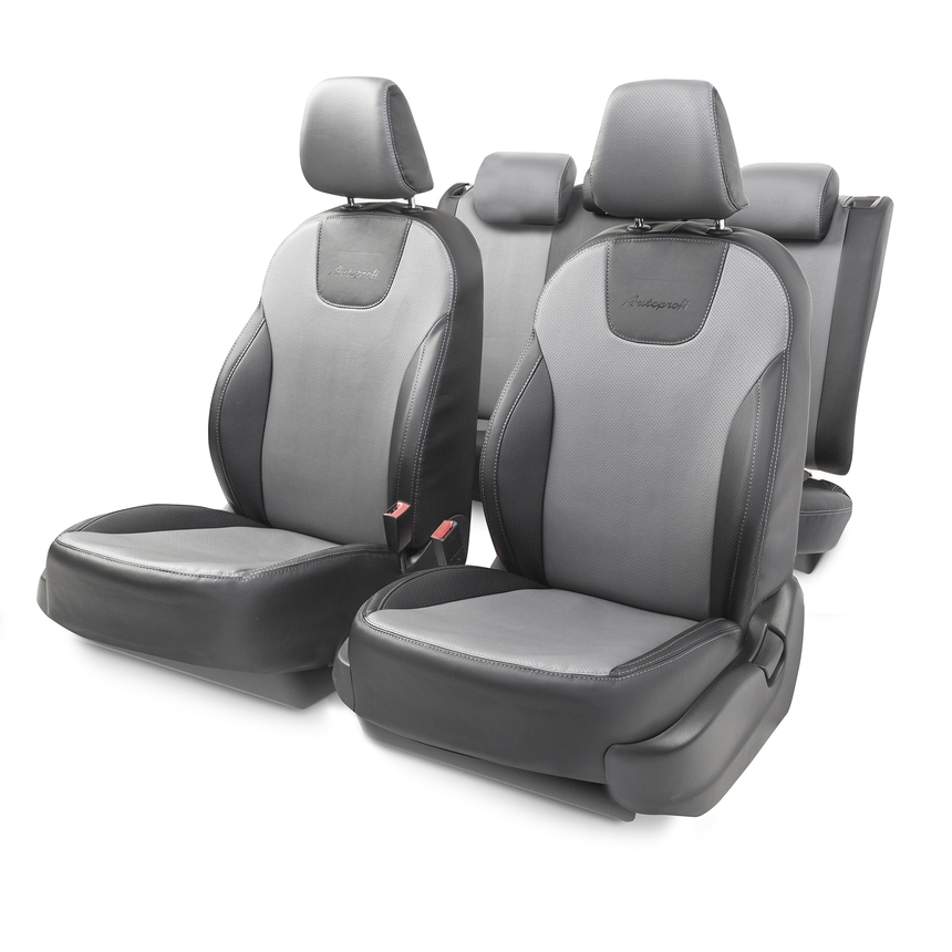 Чехлы на сиденья модельные экокожа SKODA OCTAVIA-3 (2013+) OCT-3Lt(13+)40-60 G BK/D.GY фото