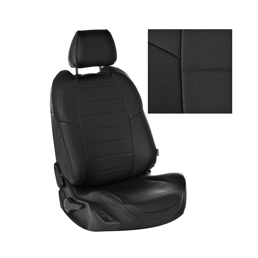 Чехлы на сиденья Nissan Tiida (С13) Hb c 15г. G BK/BK / ni-td-t2-chch-e фото