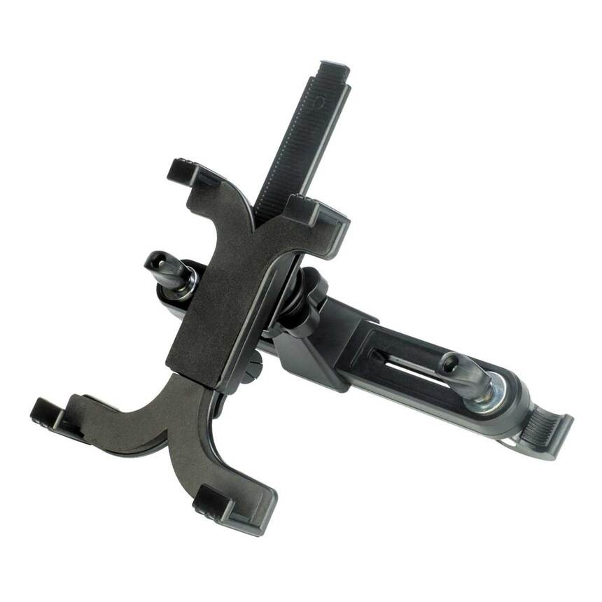 Автомобильный держатель планшета для установки на подголовник переднего сидения 122-240 мм, ZIPOWER PM6619 фото