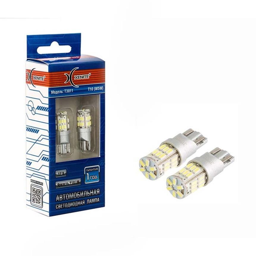 Светодиодные лампы Xenite T3011 12V(T10/W5W) (Ярк. 210Lm) упаковка 2шт 1009419 фото