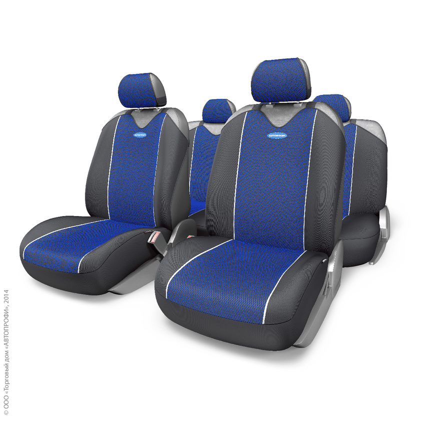 Майки на сиденья CARBON PLUS Zippers CRB-902PZ BK/BL фото