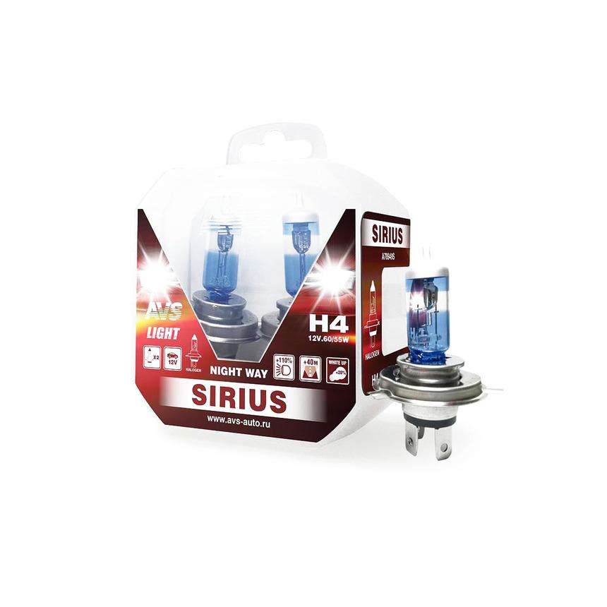 Галогенная лампа AVS SIRIUS/NIGHT WAY/ PB H4.12V.60/55W A78949S фото