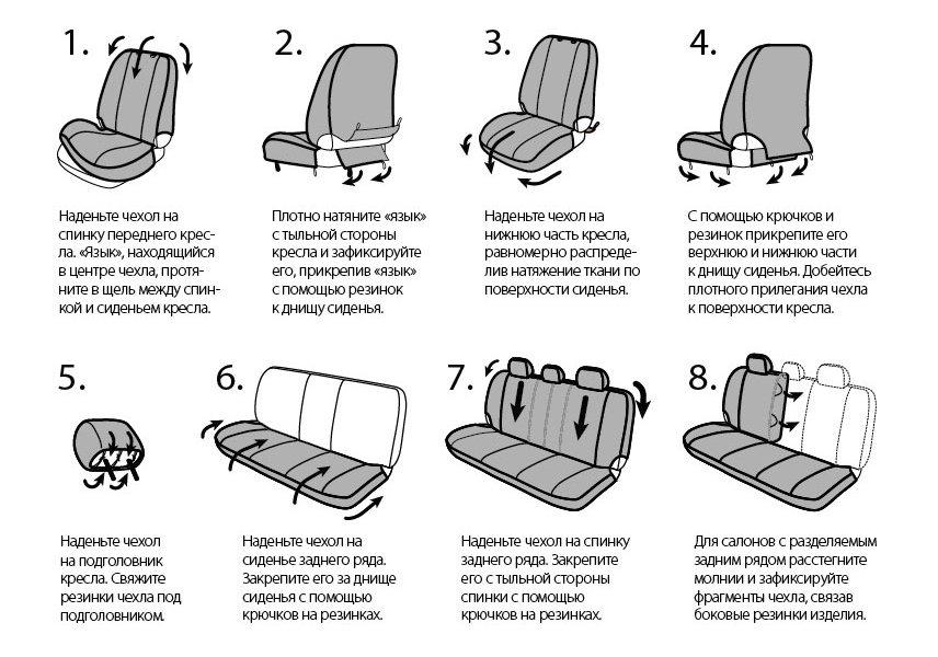 Как сшить чехол на кресло автомобиля своими руками пошаговая инструкция 60